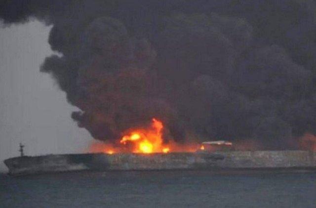 برخورد نفتکش ایرانی با کشتی چینی در سواحل چین